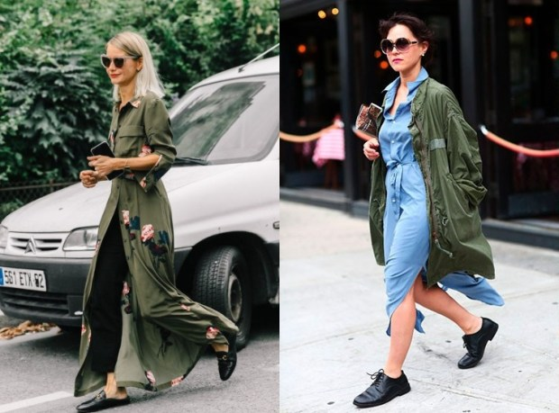 Street Style Fashion Trends Fall Winter 2018 2019: Military Style