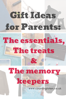 Gift ideas for parents including the essentials, the treats and the memory keepers. Perfect for Christmas and Birthdays, #giftguide 2