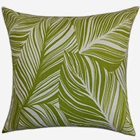 Botanical motif pillow