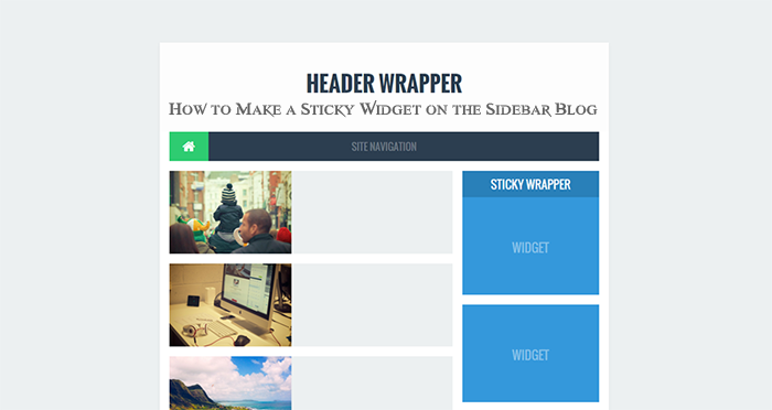 How to Make a Sticky Widget on the Sidebar Blog