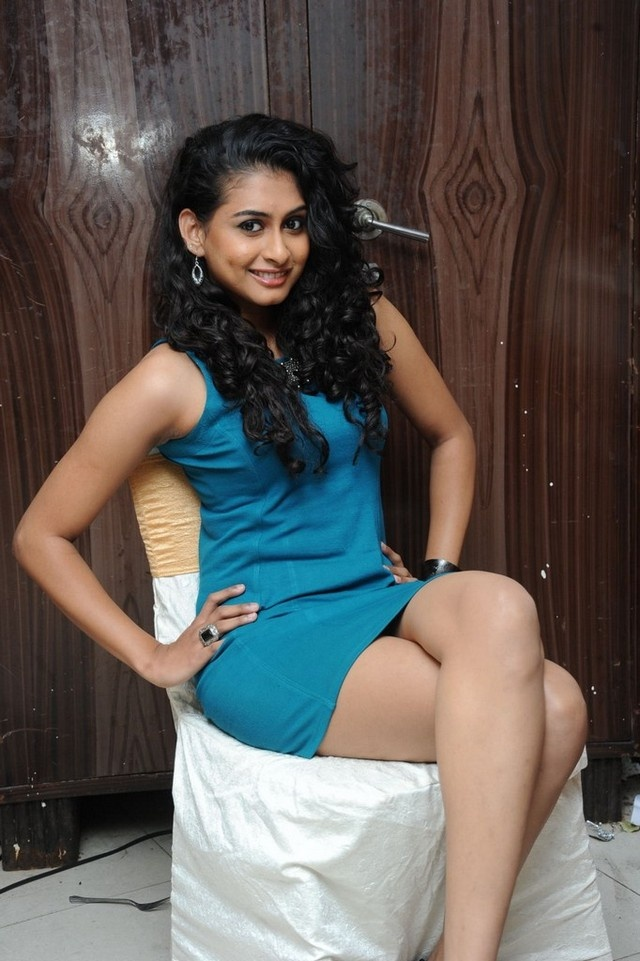 Sexy Nitya Naresh In Blue Skirt