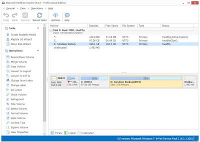 partition resize, partition offline, partition delete, partition create