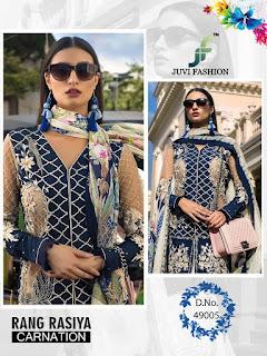 Juvi fashion Rangrasiya Carnation Cotton Pakistani Suits Eid and Ramzan Special