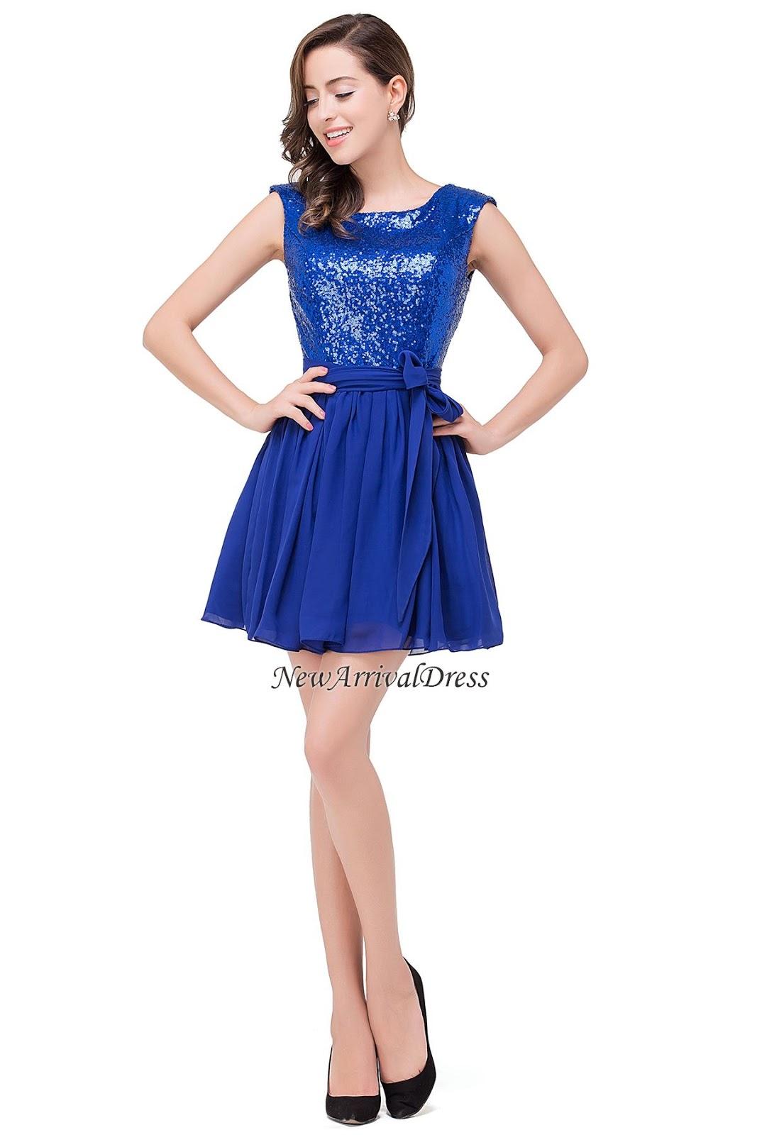 Chiffon Sequins Sleeveless Short Elegant Homecoming Dress