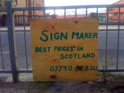 Sign maker - Best prices in Scotland 07790 688751