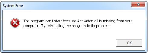 Télécharger Activation.dll Fichier Gratuit Installer