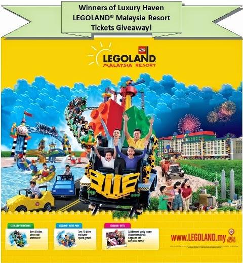 legoland malaysia resort theme park giveaway winners