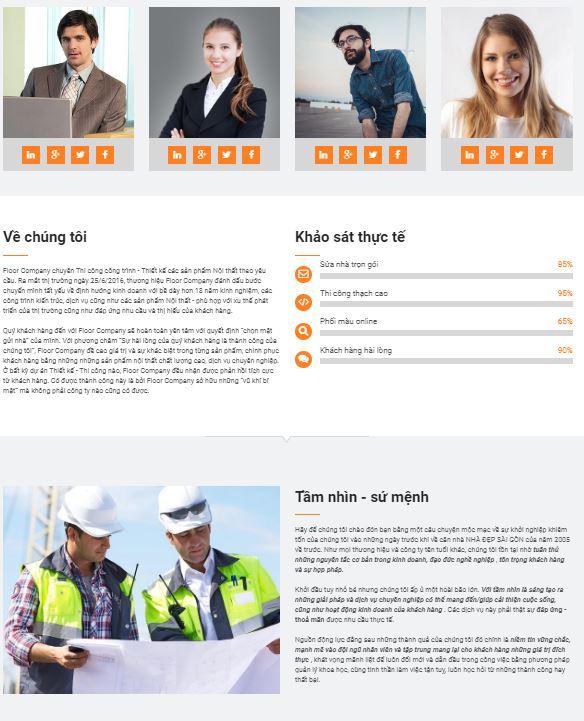 Theme blogspot giới thiệu công ty đẹp