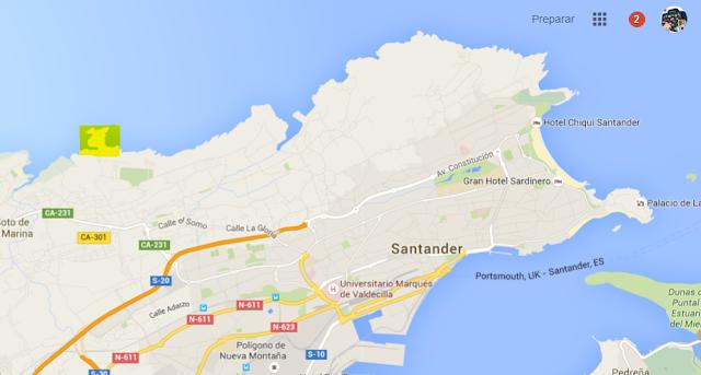 santander y la isla de la virgen del mar