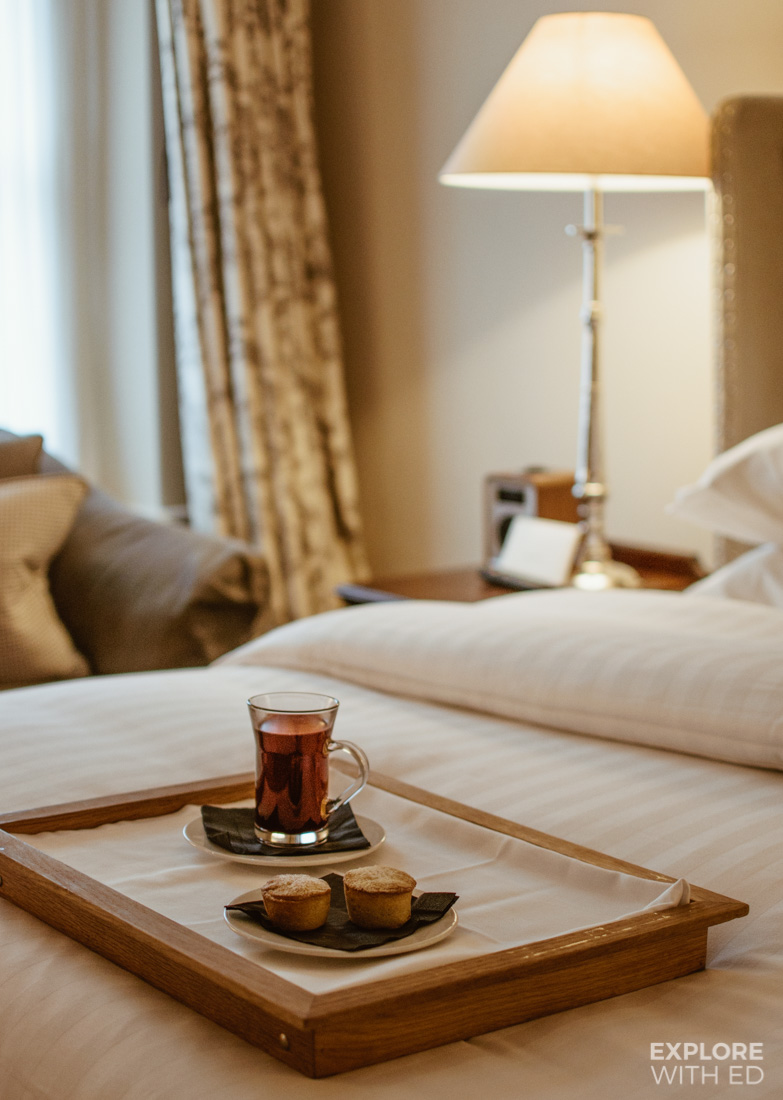 Mince pies and mulled wine delivered to your room