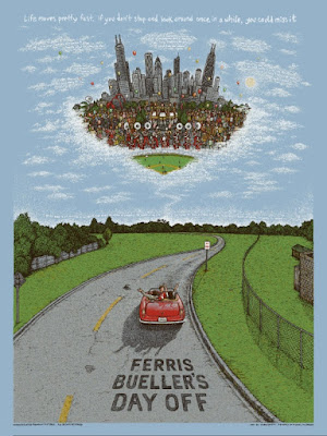 Ferris Bueller's Day Off Opan Edition Screen Print by Marq Spusta & Dark Hall Mansion