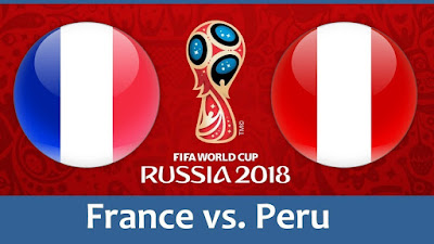Live Streaming France vs Peru Piala Dunia 21.6.2018