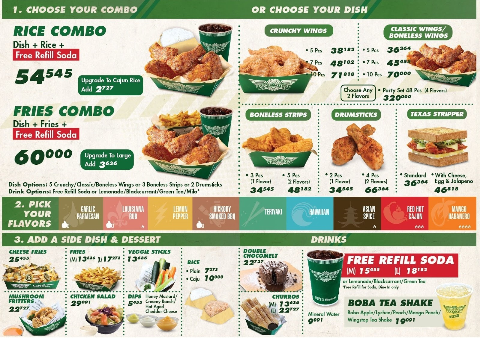 It's just a graphic of Transformative Wingstop Printable Menu