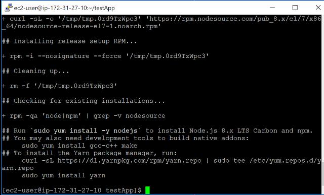 Railsサーバー起動のためにNode.jsインストール準備完了