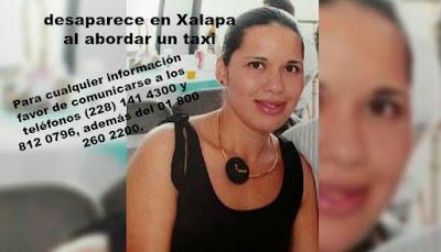 Mujer desaparece al tomar un taxi en Xalapa