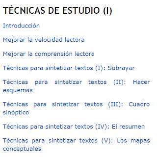 TÉCNICAS DE ESTUDIO I