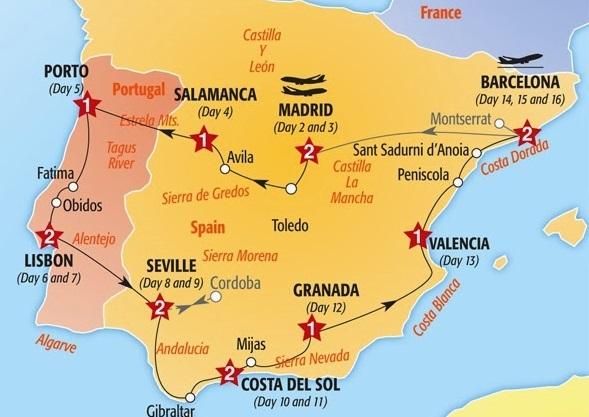 Viagem de carro na Espanha