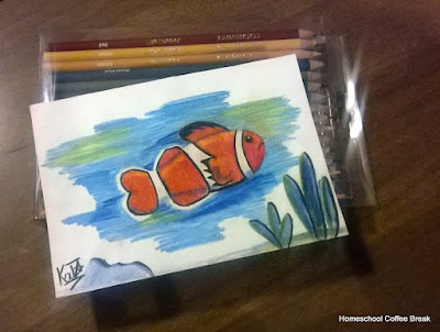 One Okayish Fish on the Virtual Refrigerator art link-up hosted by Homeschool Coffee Break @ kympossibleblog.blogspot.com #art  #VirtualFridge