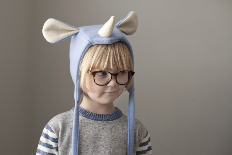 diy play rhino bonnet hat