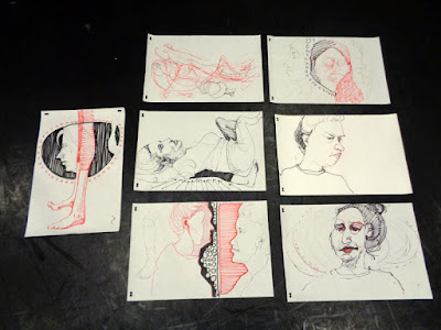 portrait & figure drawings of Carmen Paterson at York University, Toronto On.