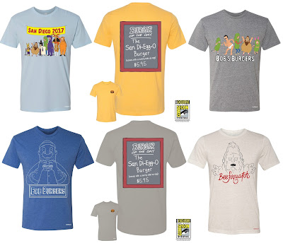 San Diego Comic-Con 2017 Exclusive Bob's Burgers T-Shirt Collection by Toddland