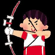 オリンピックのイラスト「アーチェリー」