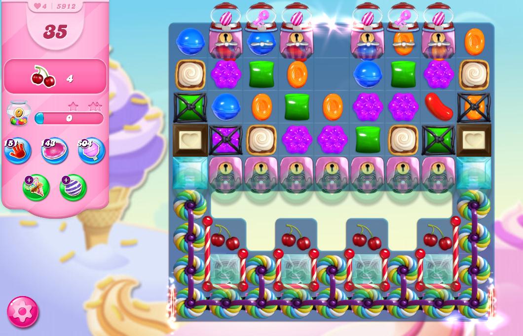 Candy Crush Saga level 5912