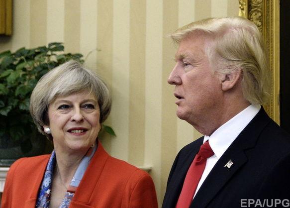 Лондон відреагував на повідомлення про небажання Трампа зустрічатися з Мей