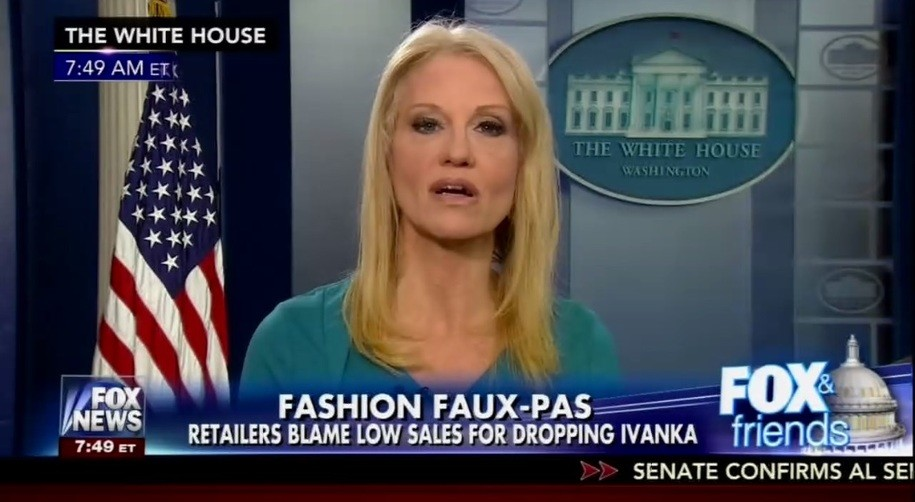 Conway S Endorsment Of Ivanka Fashions