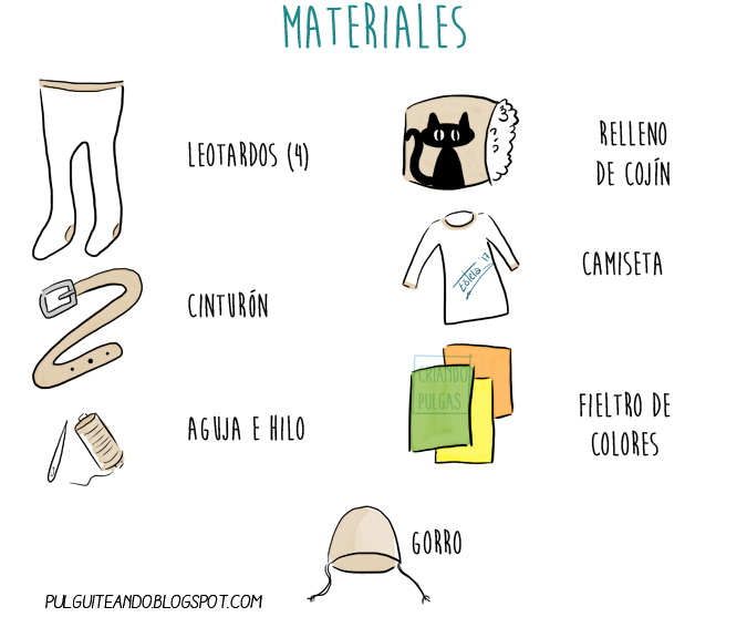 Idea disfraz DIY casero para carnaval - Materiales
