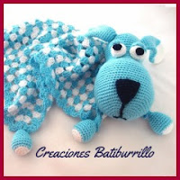 Manta perrito a crochet