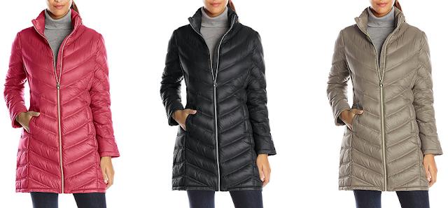 Calvin Klein Chevron Quilted Down Coat $60 (reg $240)