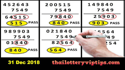 Thailand lottery Facebook 3up Total super tip 31 January 2018