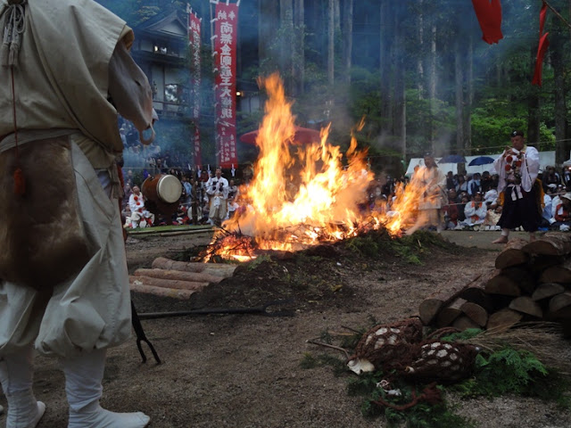 Praying & Walking on Fire, Mt. Santoku, Misasa Town, Tottori Pref.