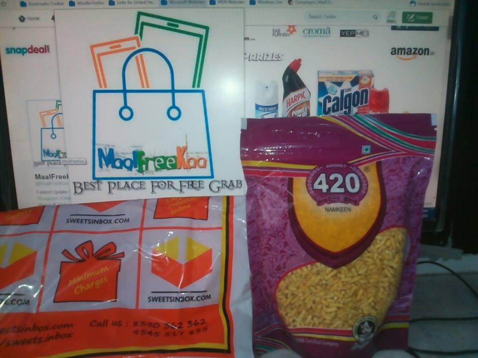 Freebies Received !! Free Sample of Indore Namkeen