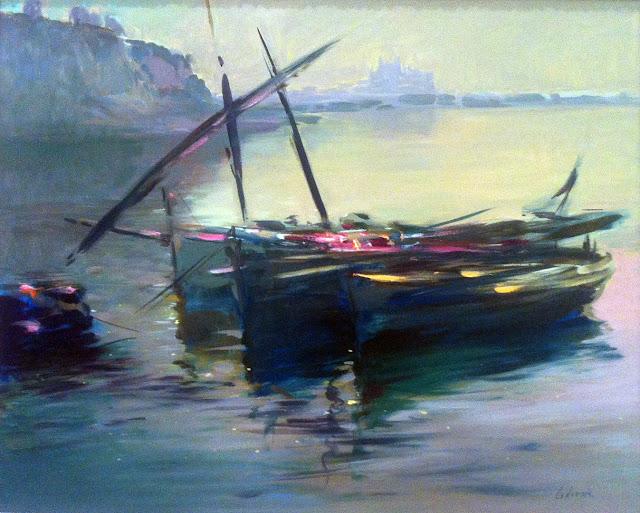 Daniel Codorniu, Paisajes de Mallorca, Mallorca en Pintura, Mallorca, Molins del Jonquet a la Palma antiga pintada