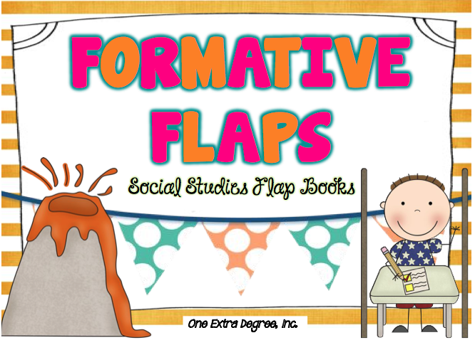 formative flap books for social studies freebies one extra degree one extra degree