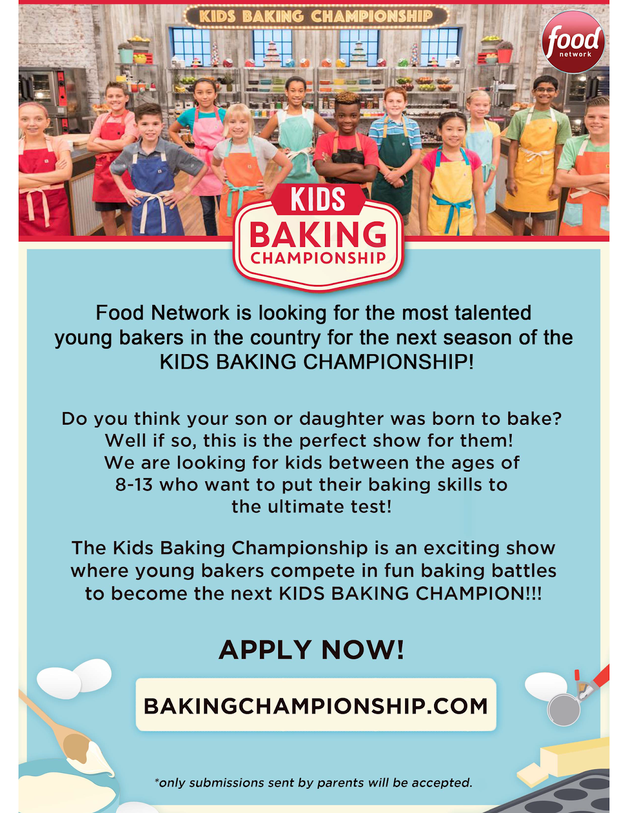 Food Network is Casting for Kids Baking Championship | Texas