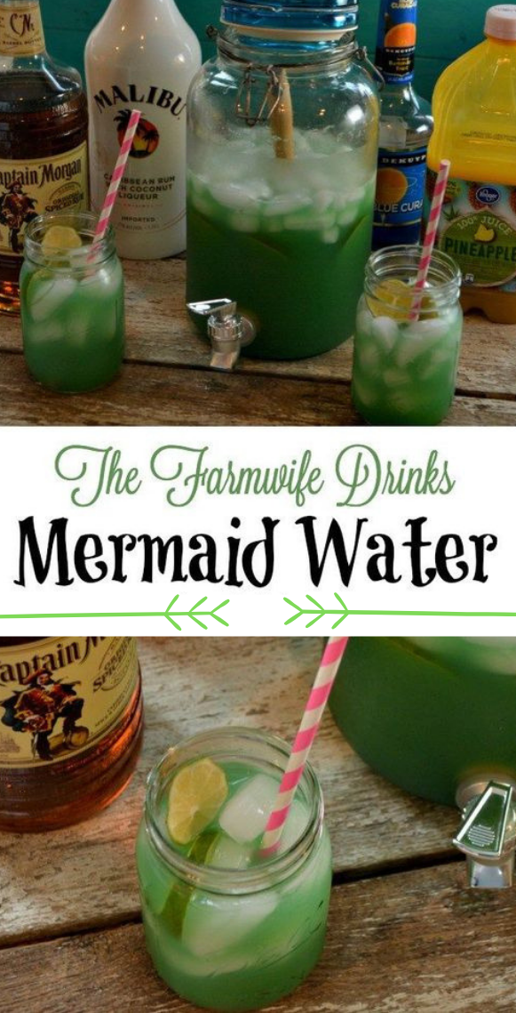 MERMAID WATER #drink #waterdrink