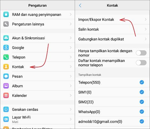 Cara Backup dan Restore Nomer Kontak di Android Dengan Mudah