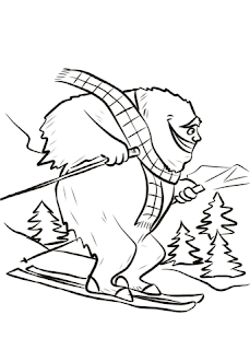 Cutes Yeti Coloring Pages