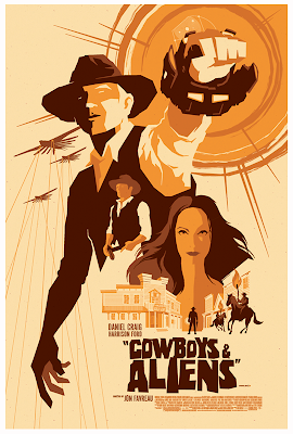 Cowboys & Aliens Screen Print by Tom Whalen