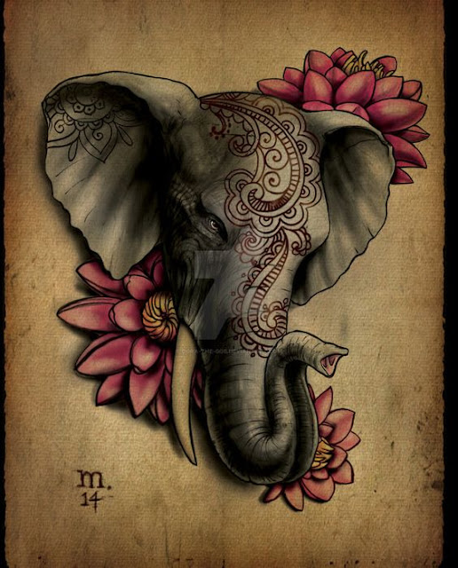 12 Super Cute Elephant Tattoo For Women and Men