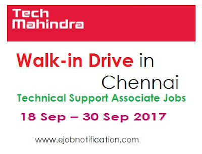 Tech Mahindra Fresher Walk-in Drive in Chennai for Technical Support Associate jobs