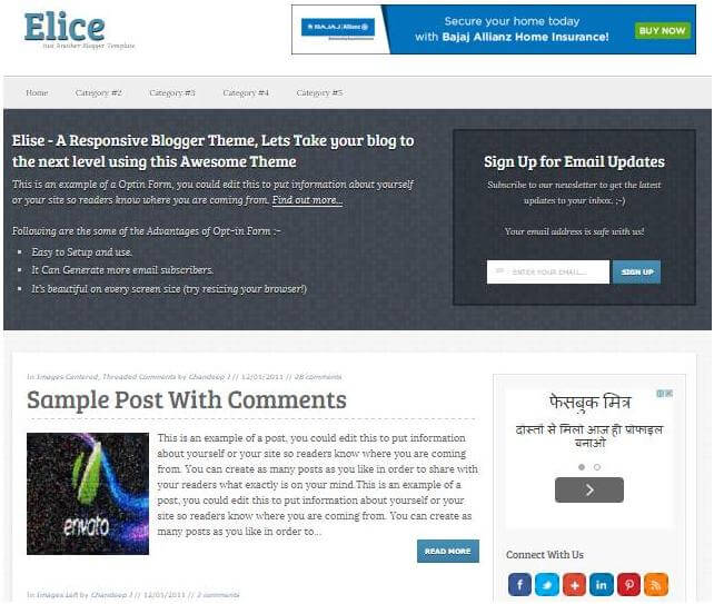 elice seo friendly template