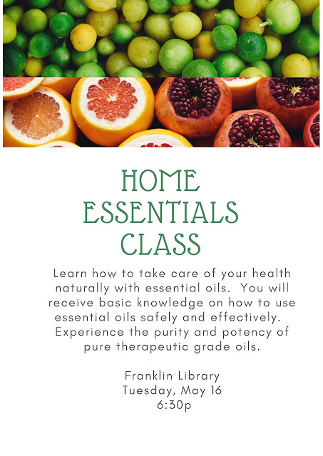 Franklin Public LIbrary: Home Essential Oils Class - May 16