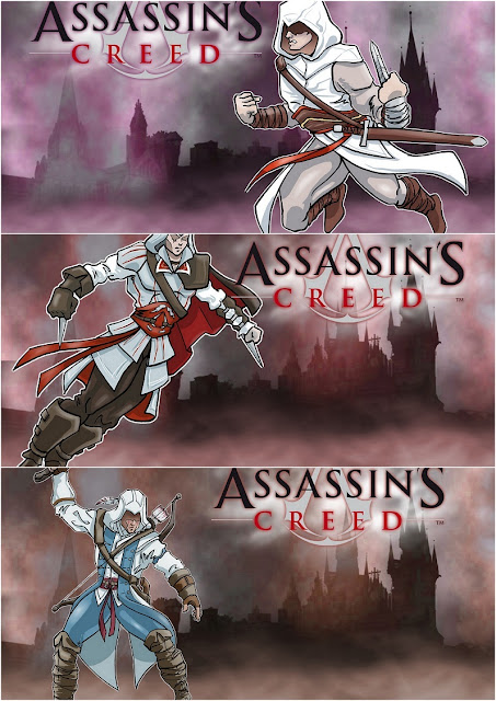 Assassin's Creed Free Printable Invitations, Labels or Cards.
