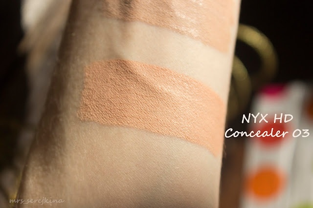NYX High Definition Photogenic Concealer Wand оттенок CW 03 Light: свотч