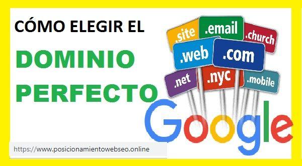 Cómo elegir un buen nombre de dominio para tu página web