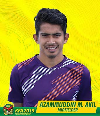 gambar pemain tengah Kedah FA 2019, Azammuddin M. Akil